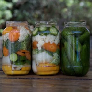 Pickled vegetables: Ghurkins